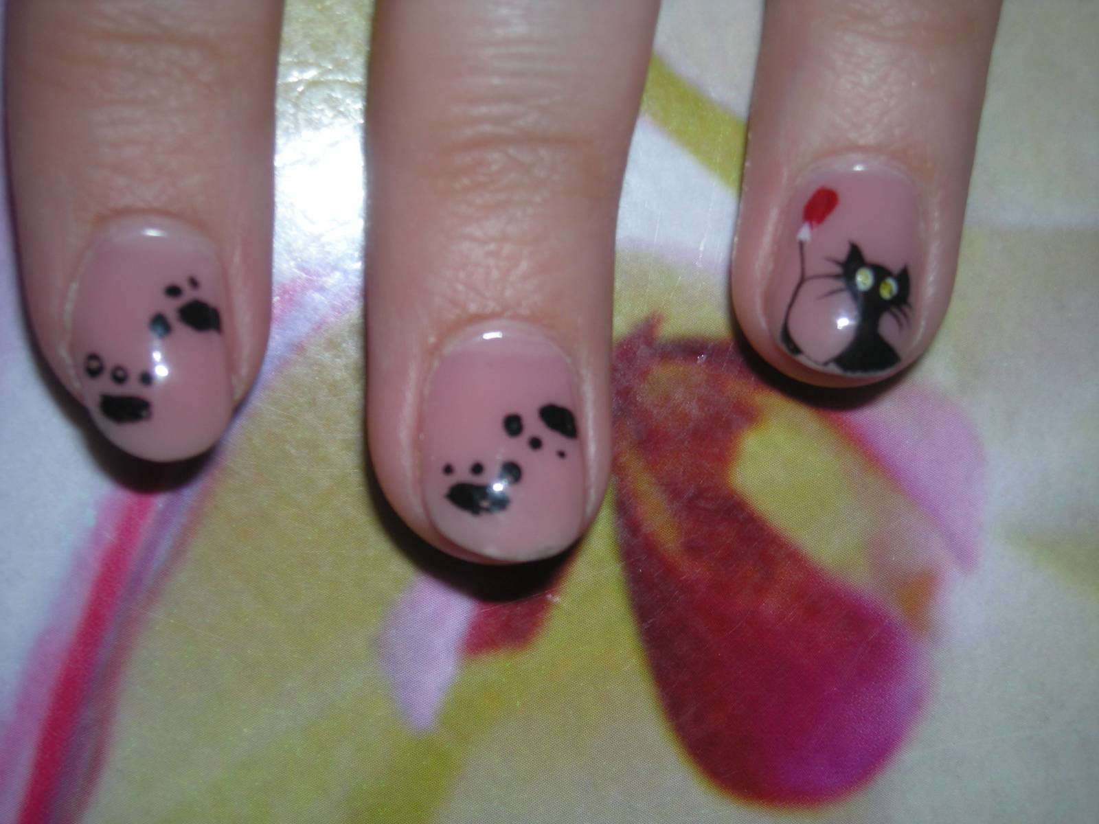 Кошки на ногти фото